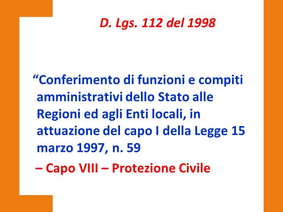 D. Lgs. 112 del 1998