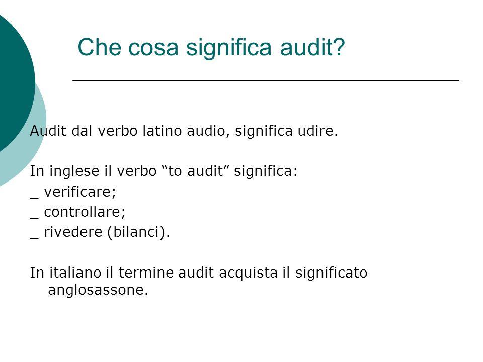 Che cosa significa audit