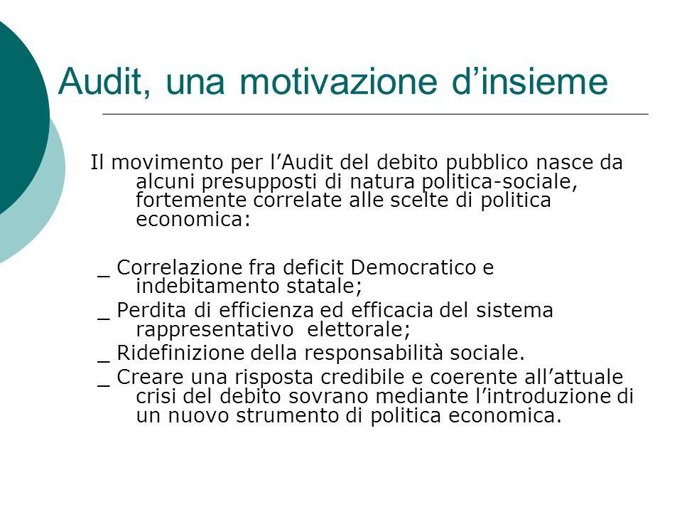 Audit, una motivazione d'insieme
