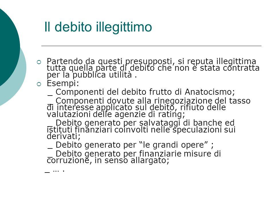Il debito illegittimo
