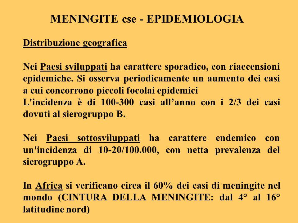MENINGITE cse - EPIDEMIOLOGIA