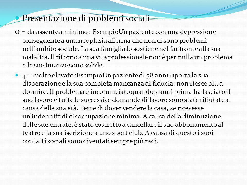 Presentazione di problemi sociali
