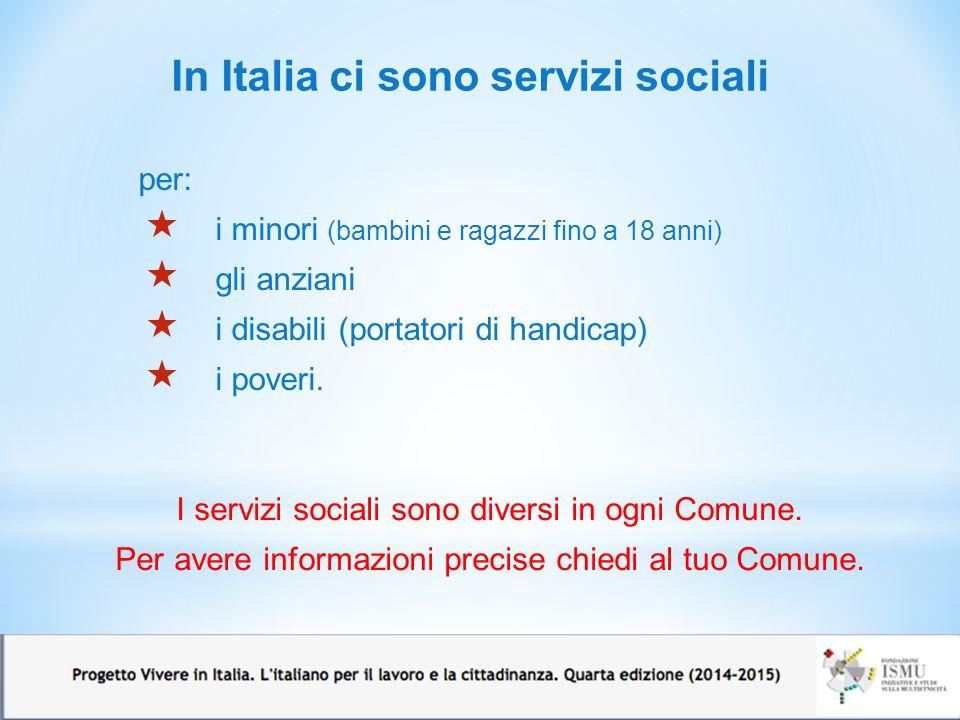 In Italia ci sono servizi sociali