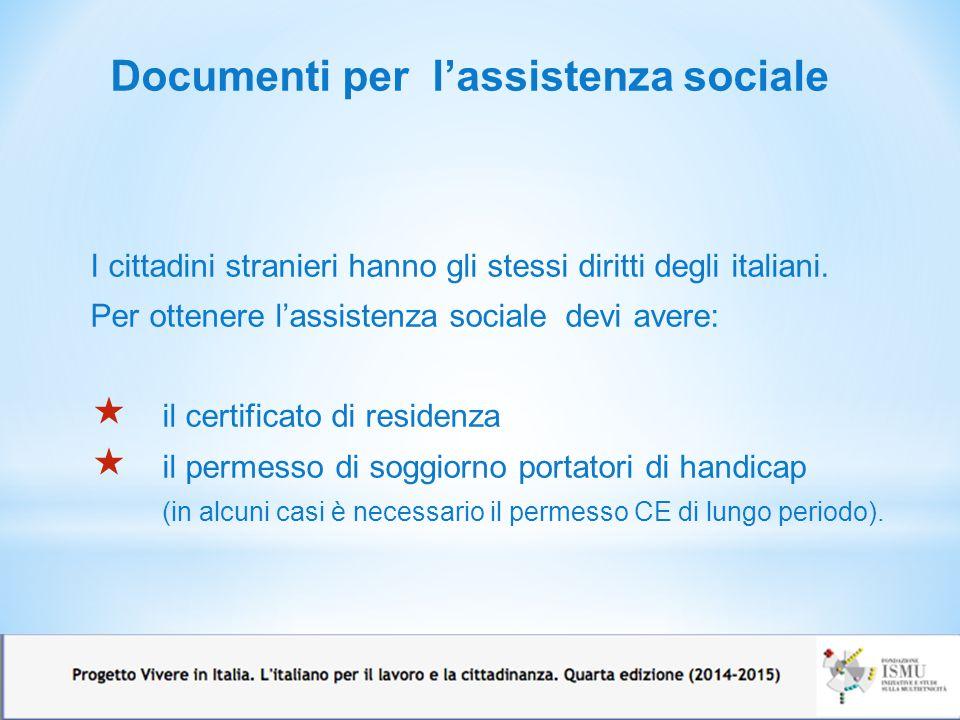 Documenti per l'assistenza sociale