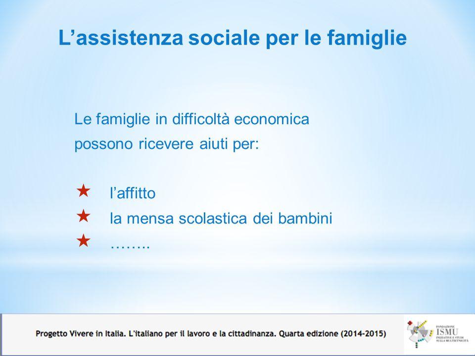 L'assistenza sociale per le famiglie
