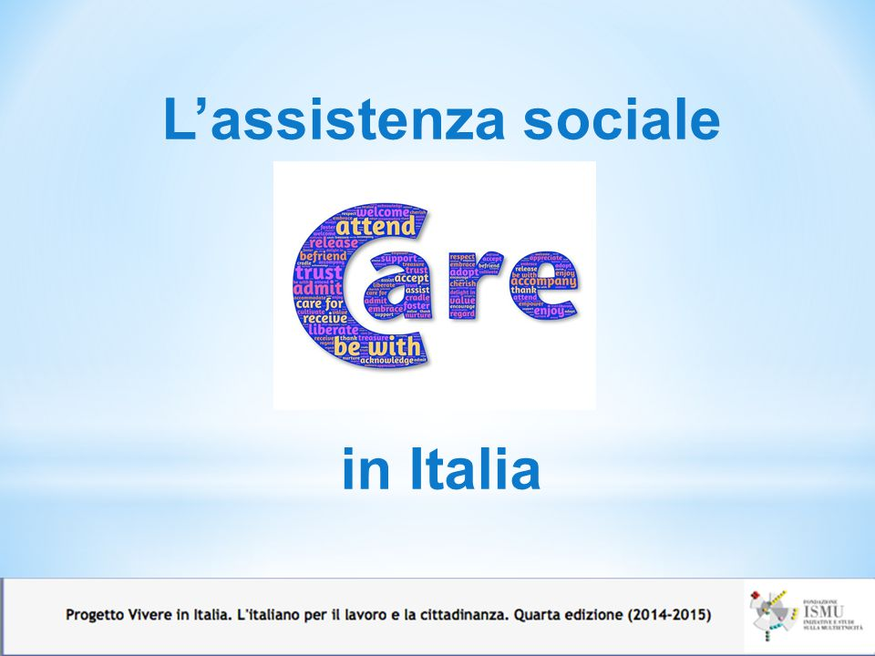 L'assistenza sociale in Italia