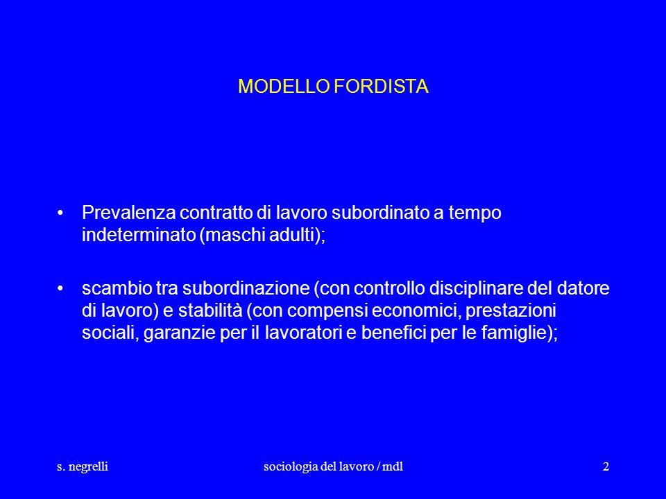 sociologia del lavoro / mdl