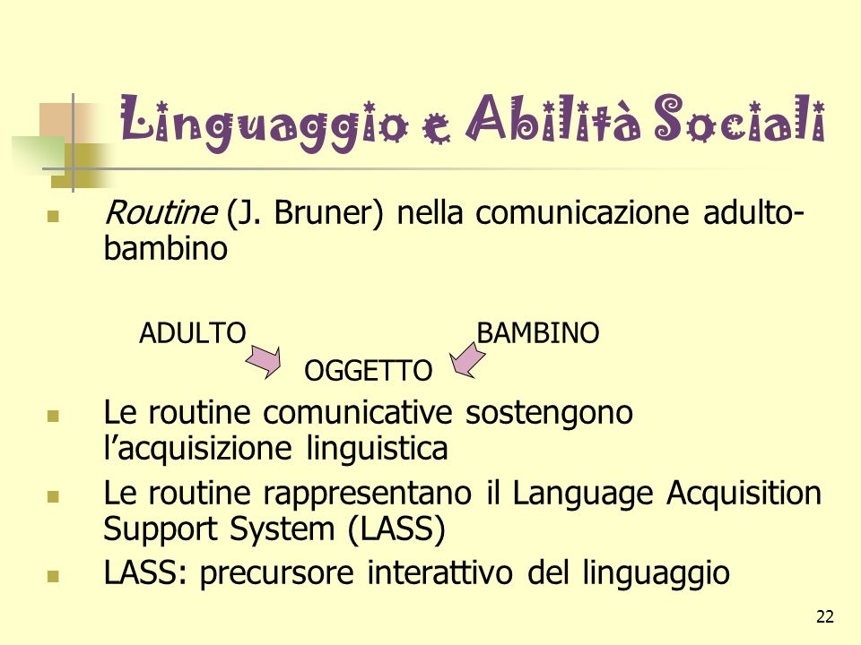 Linguaggio e Abilità Sociali