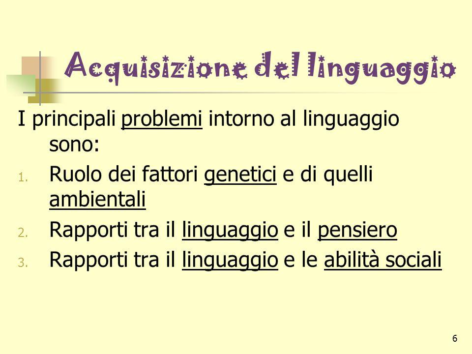 Acquisizione del linguaggio