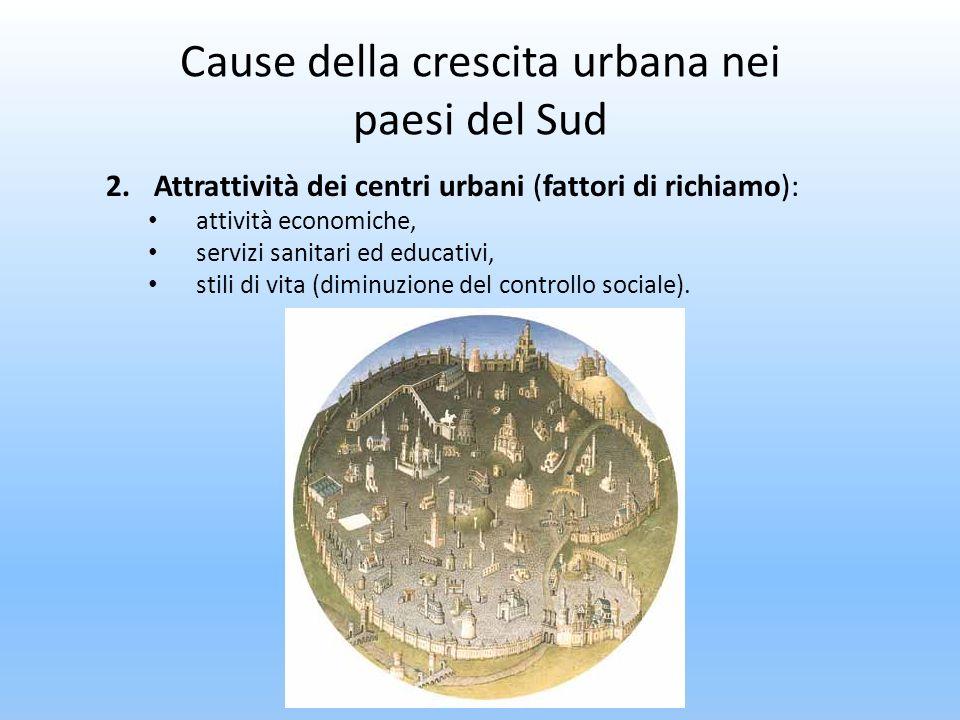 Cause della crescita urbana nei paesi del Sud