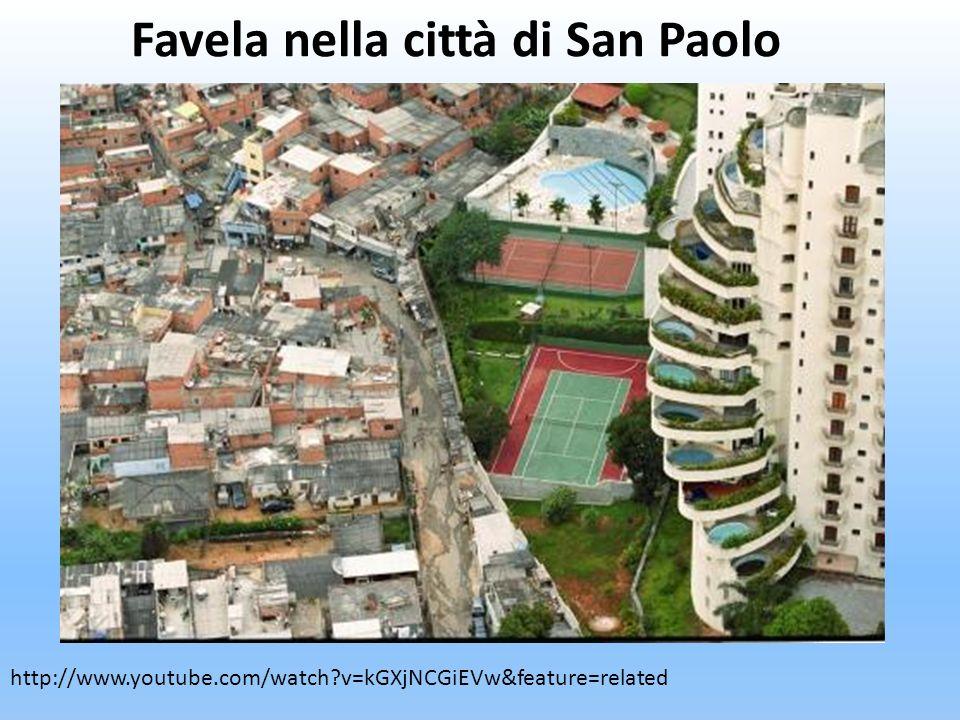 Favela nella città di San Paolo