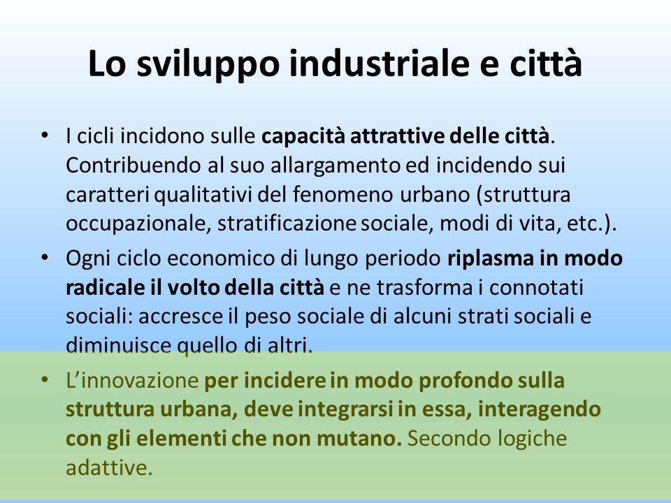 Lo sviluppo industriale e città