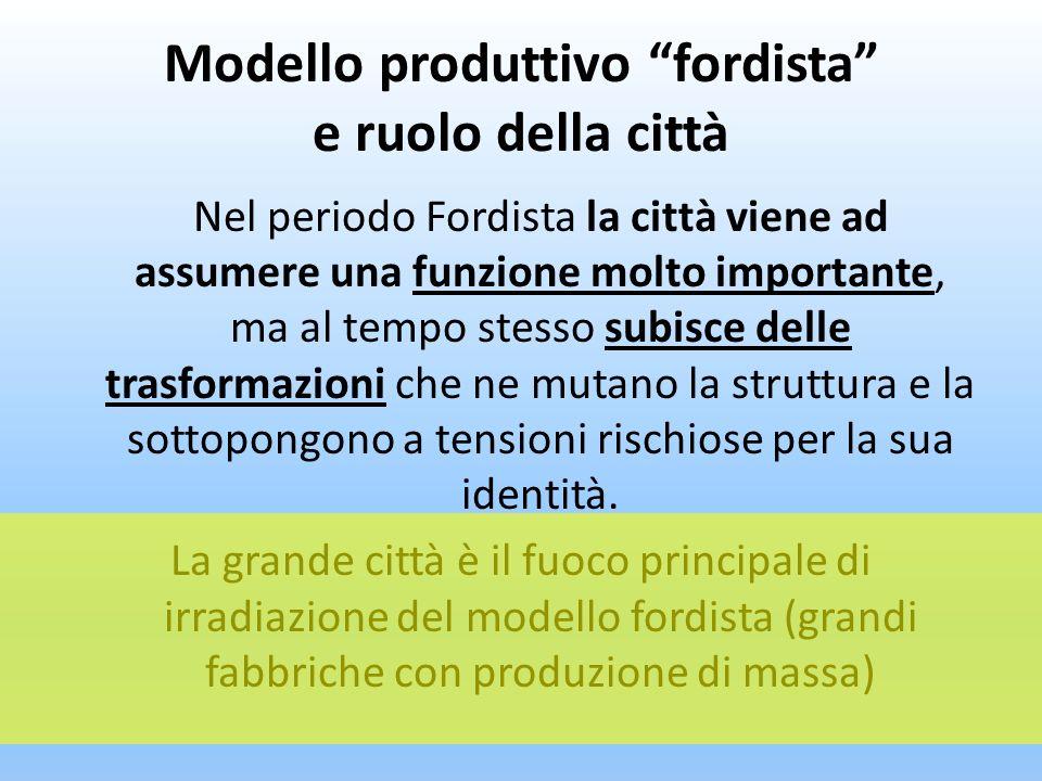 Modello produttivo fordista e ruolo della città