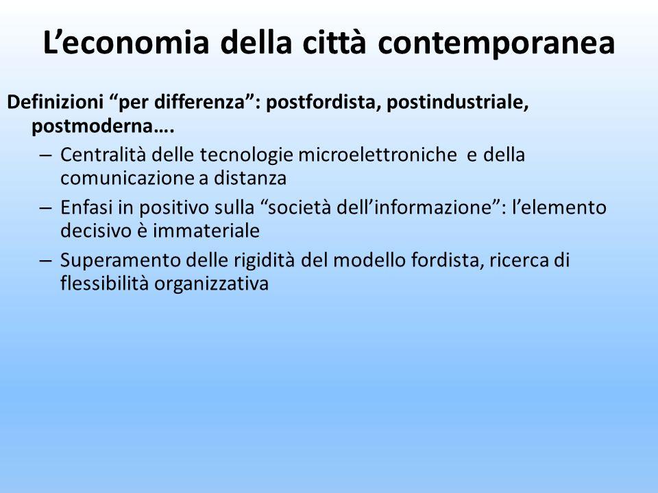 L'economia della città contemporanea