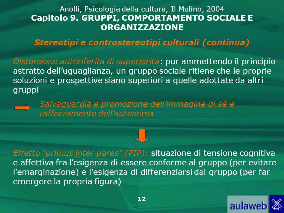 Stereotipi e controstereotipi culturali (continua)