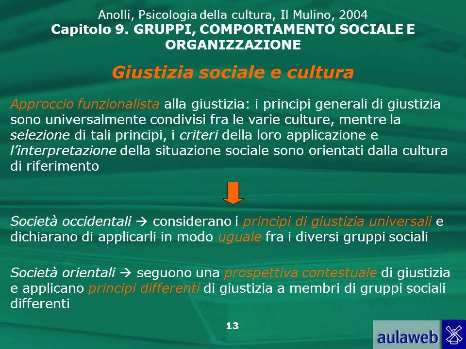 Giustizia sociale e cultura