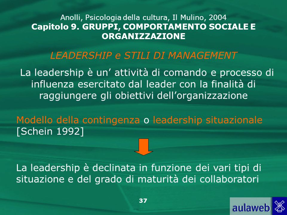 LEADERSHIP e STILI DI MANAGEMENT