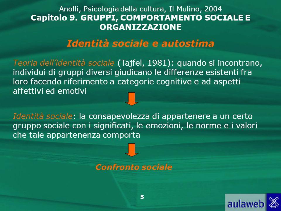 Identità sociale e autostima