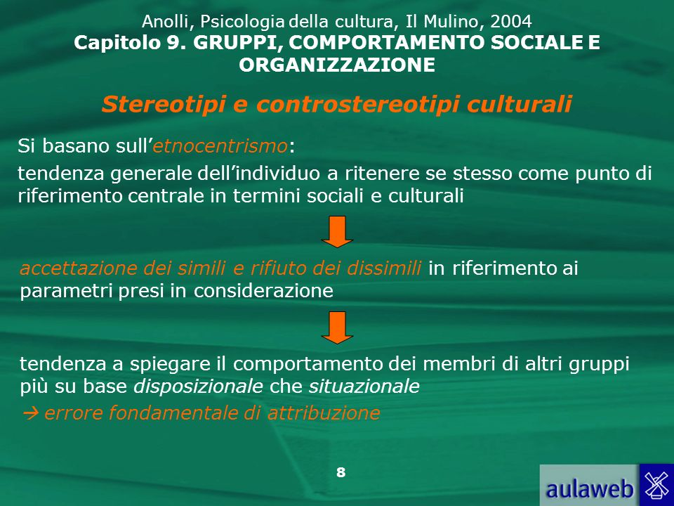 Stereotipi e controstereotipi culturali