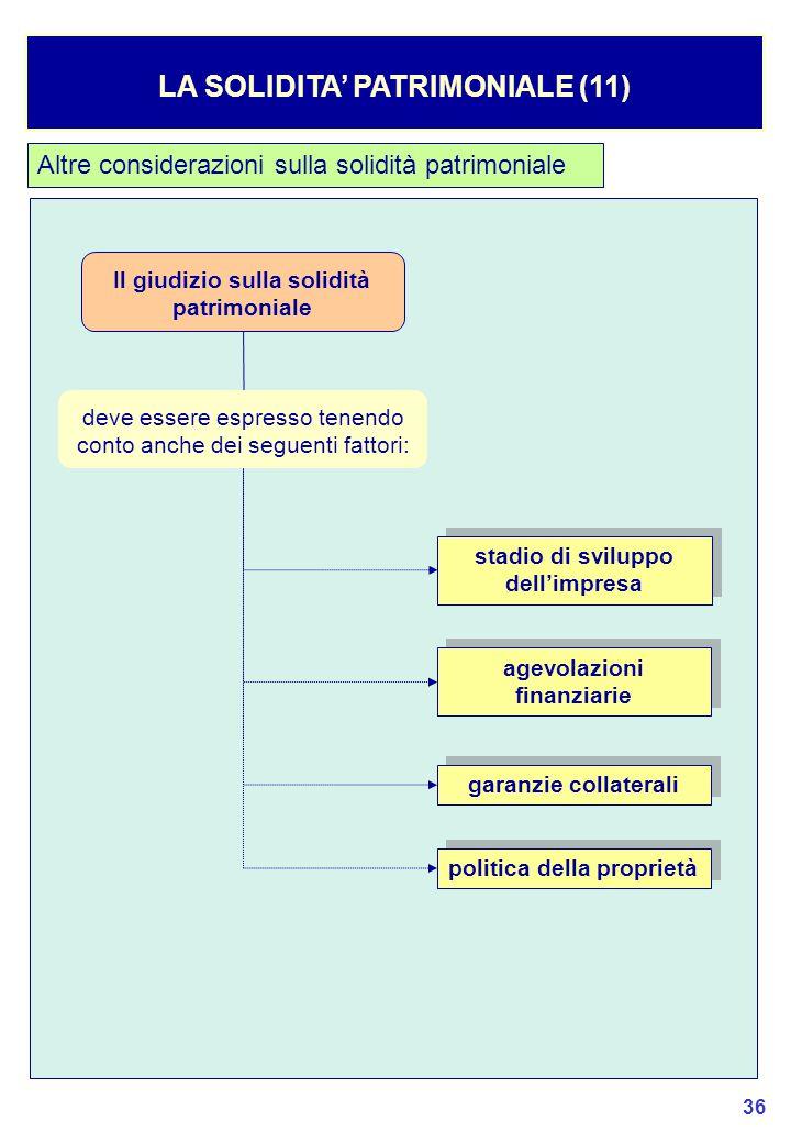 LA SOLIDITA' PATRIMONIALE (11)