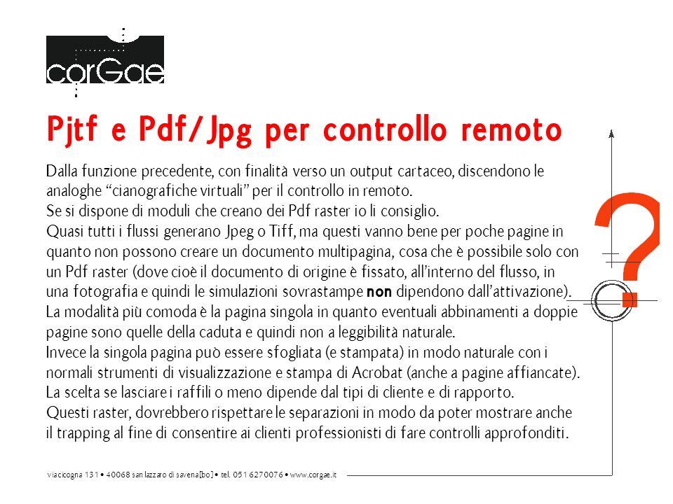 Pjtf e Pdf/Jpg per controllo remoto