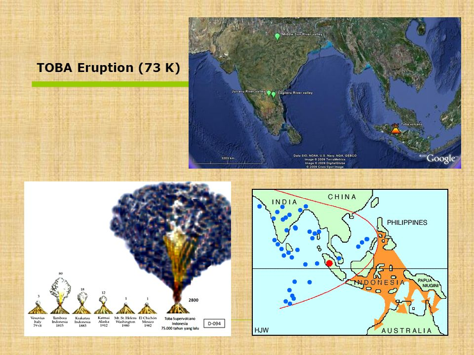 TOBA Eruption (73 K)