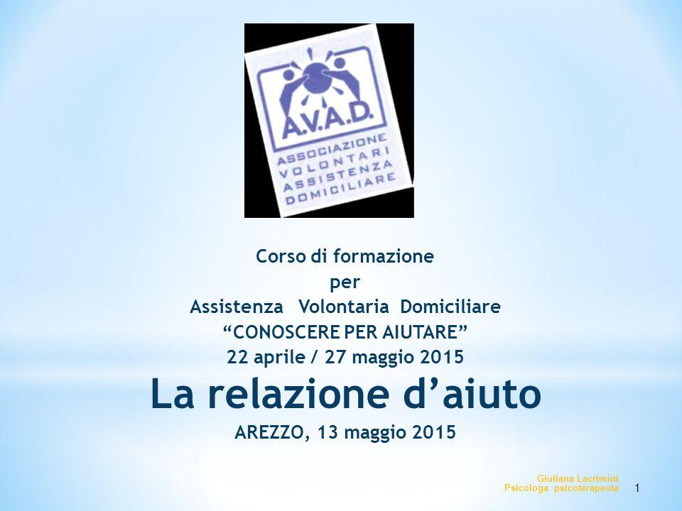 Assistenza Volontaria Domiciliare CONOSCERE PER AIUTARE