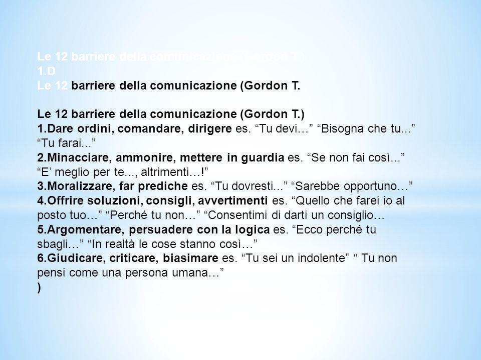Le 12 barriere della comunicazione (Gordon T.)