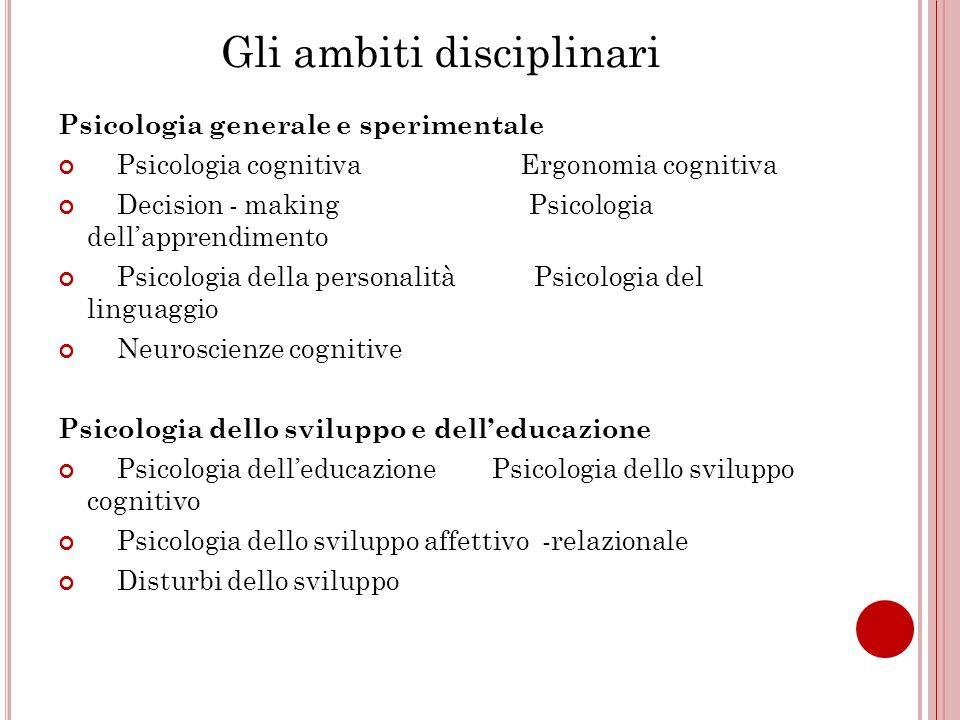 Gli ambiti disciplinari