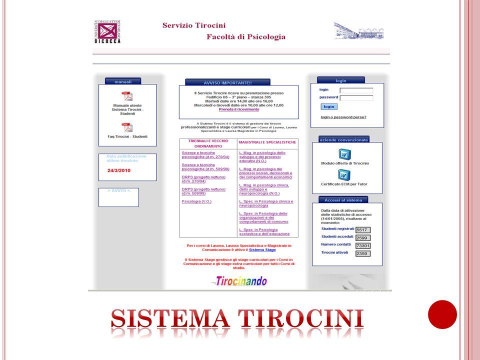 SISTEMA TIROCINI