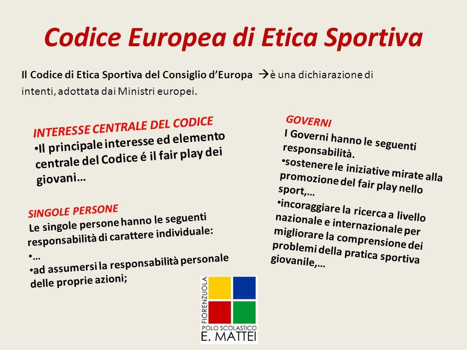 Codice Europea di Etica Sportiva
