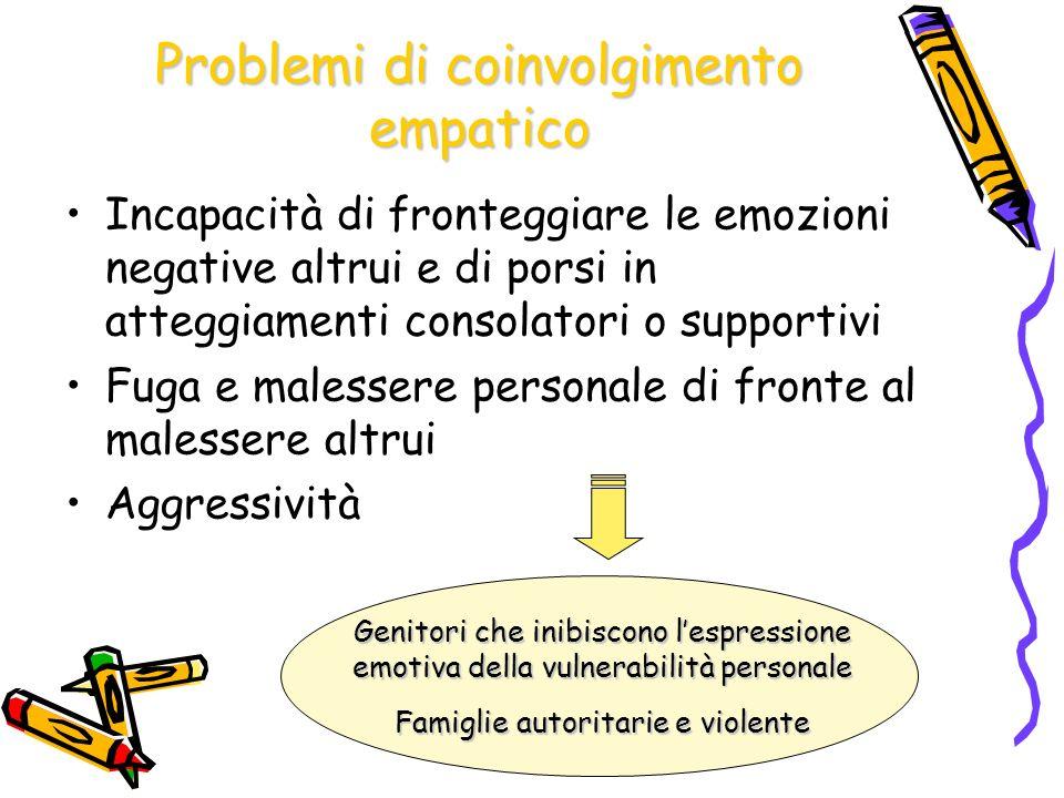 Problemi di coinvolgimento empatico