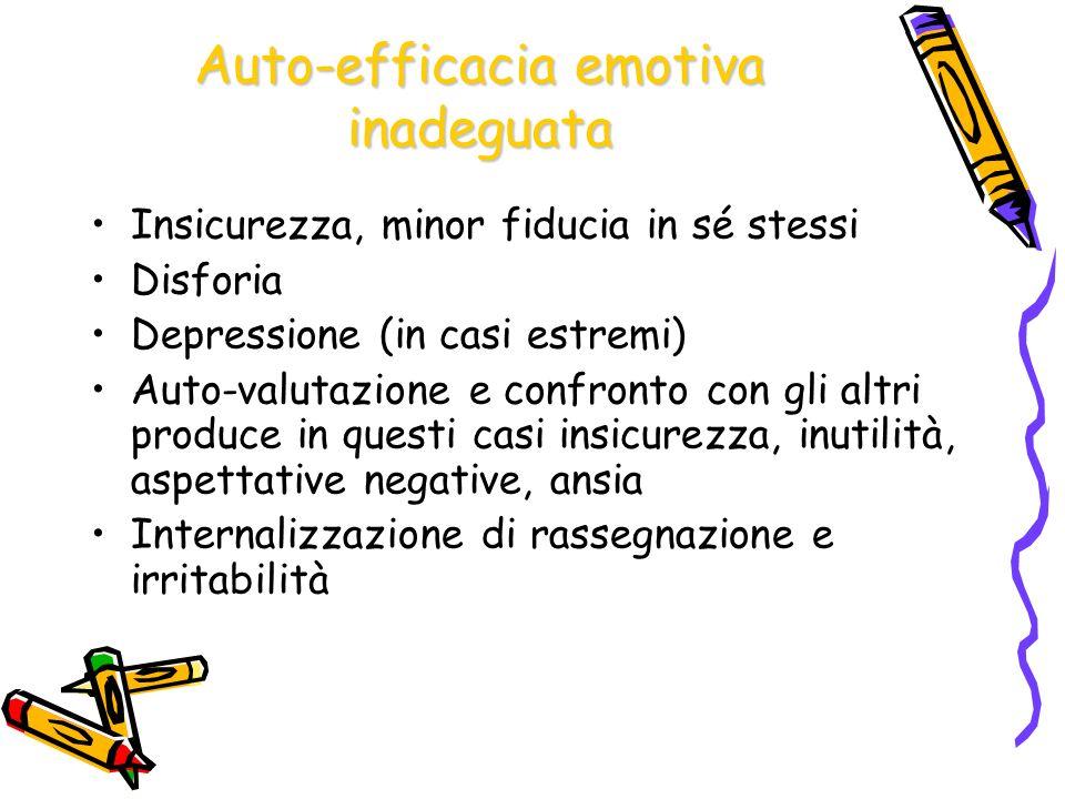 Auto-efficacia emotiva inadeguata