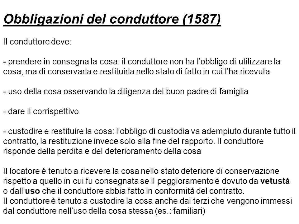 Obbligazioni del conduttore (1587)