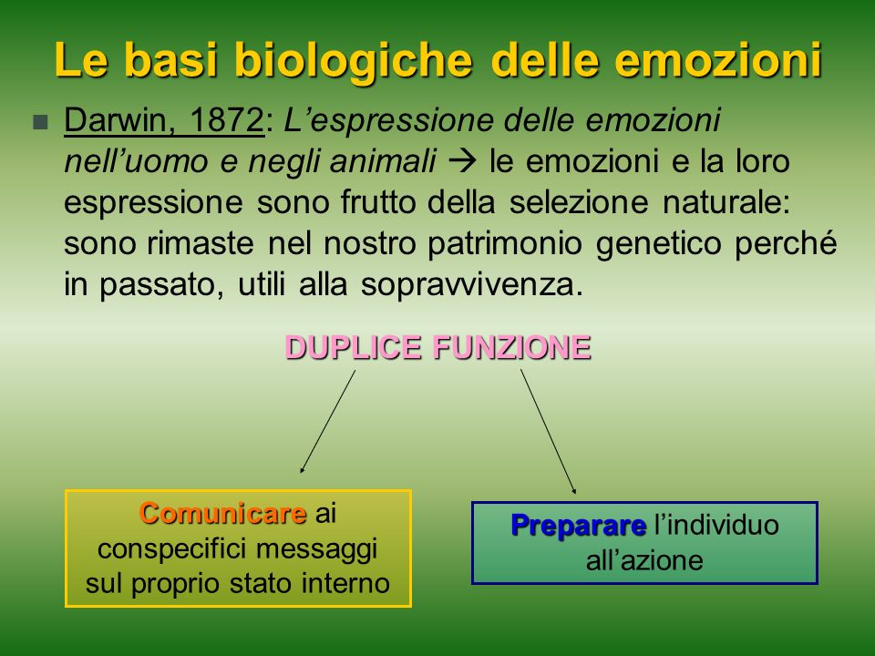 Le basi biologiche delle emozioni
