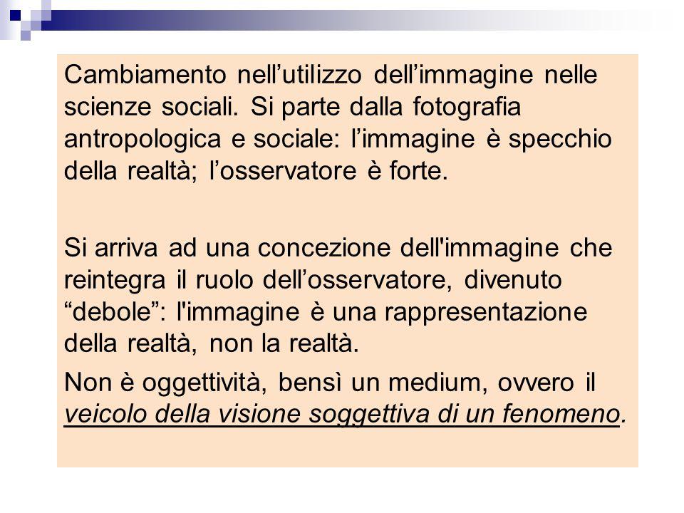 Cambiamento nell'utilizzo dell'immagine nelle scienze sociali