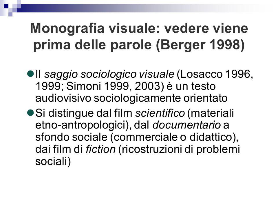 Monografia visuale: vedere viene prima delle parole (Berger 1998)