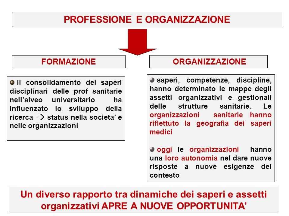 PROFESSIONE E ORGANIZZAZIONE