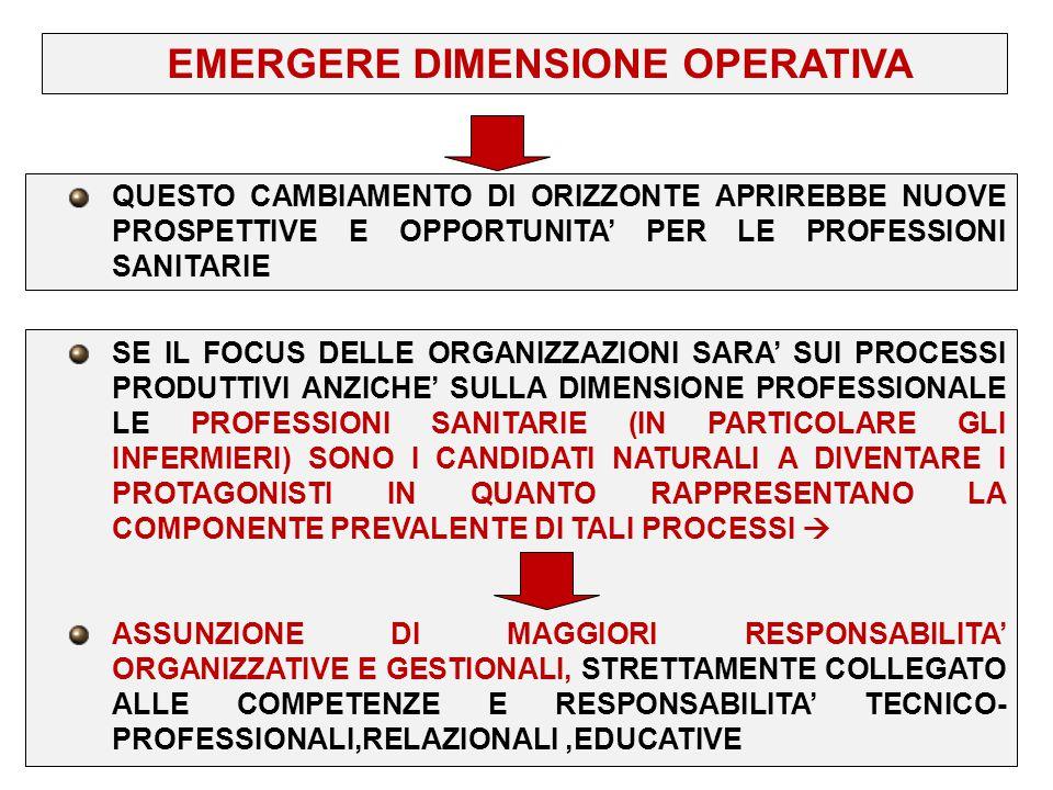 EMERGERE DIMENSIONE OPERATIVA