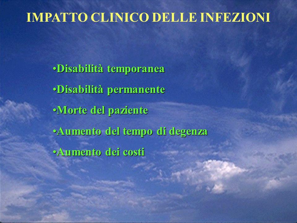IMPATTO CLINICO DELLE INFEZIONI