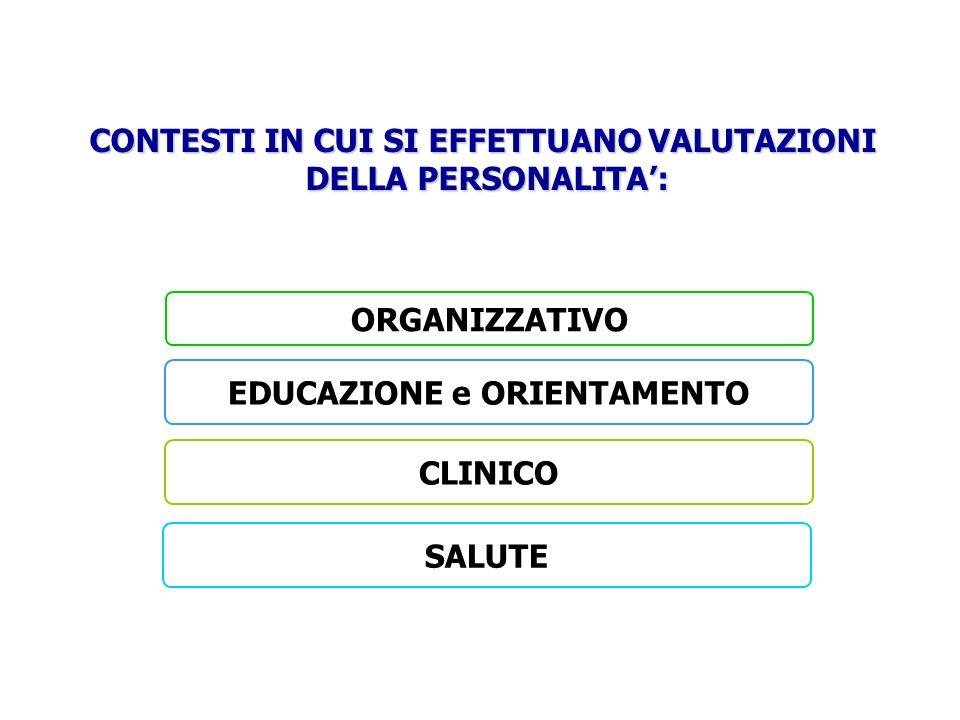 CONTESTI IN CUI SI EFFETTUANO VALUTAZIONI EDUCAZIONE e ORIENTAMENTO
