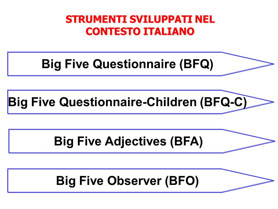 Big Five Questionnaire (BFQ)