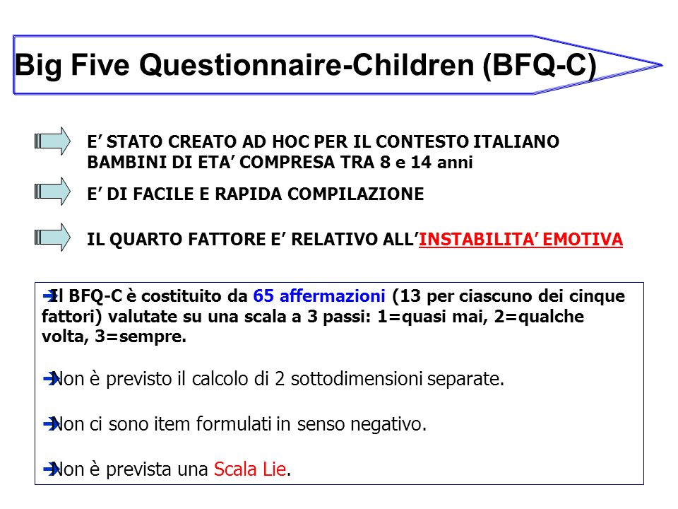 Big Five Questionnaire-Children (BFQ-C)