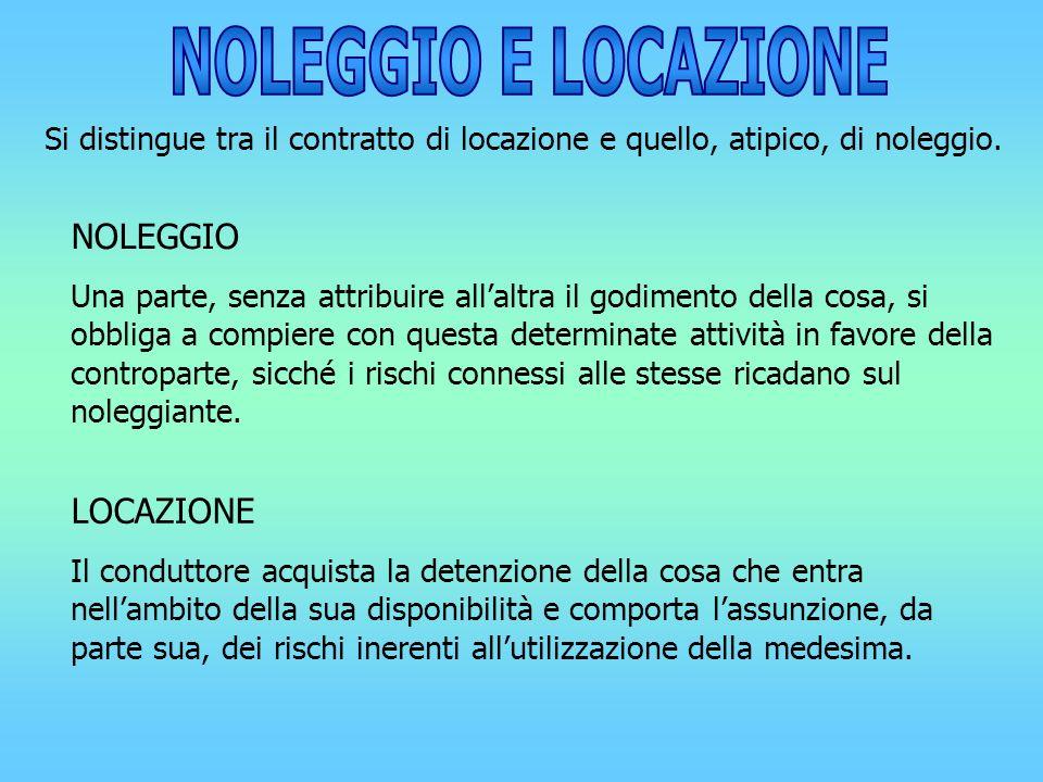 NOLEGGIO E LOCAZIONE NOLEGGIO LOCAZIONE