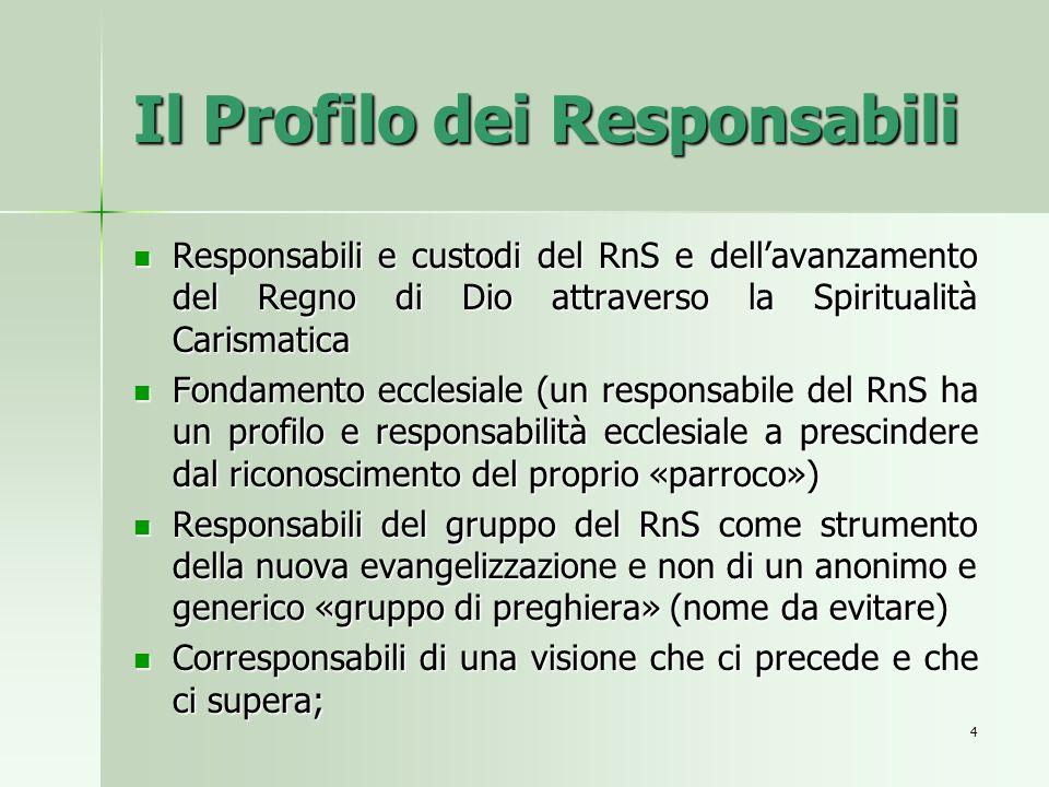 Il Profilo dei Responsabili