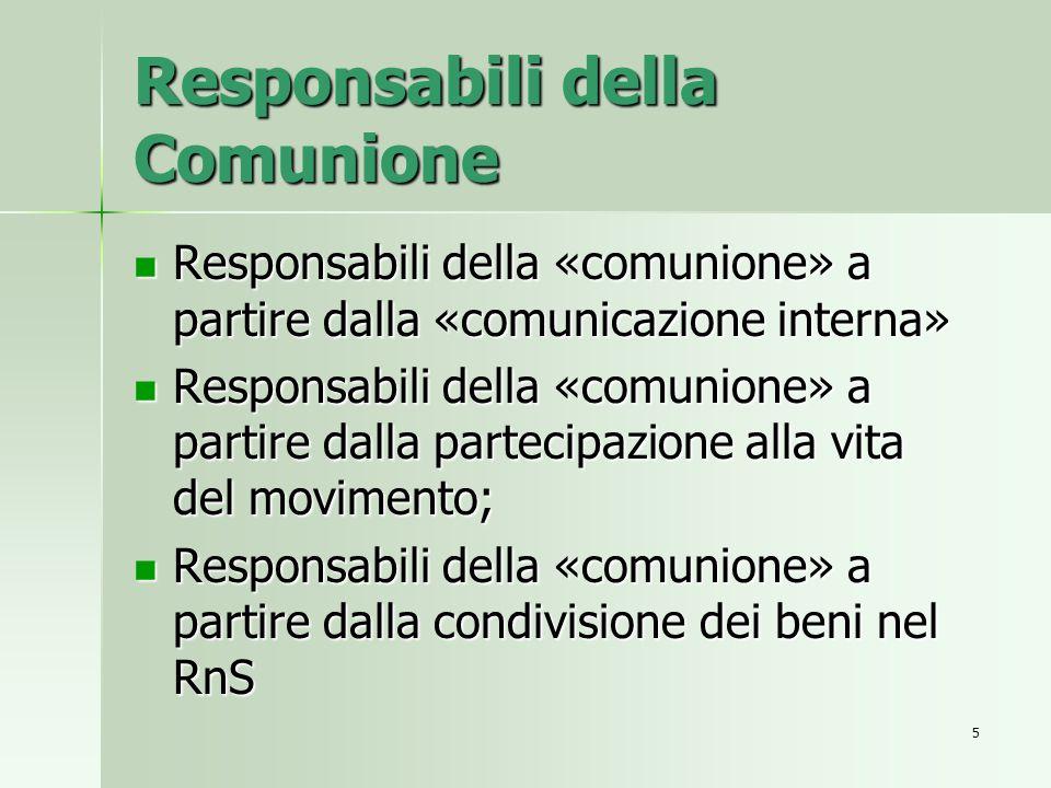 Responsabili della Comunione