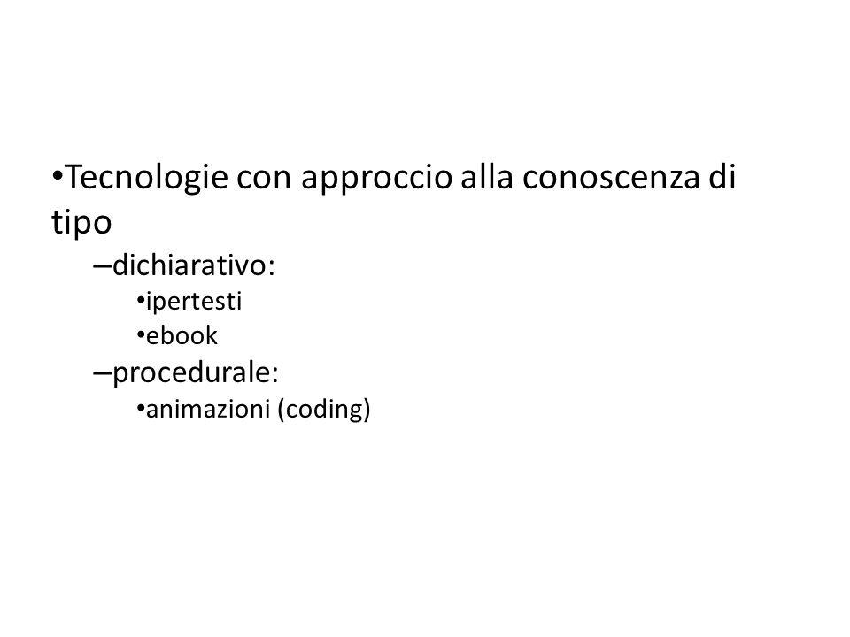 Tecnologie con approccio alla conoscenza di tipo
