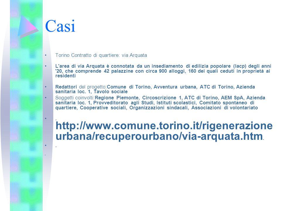 Casi Torino Contratto di quartiere: via Arquata