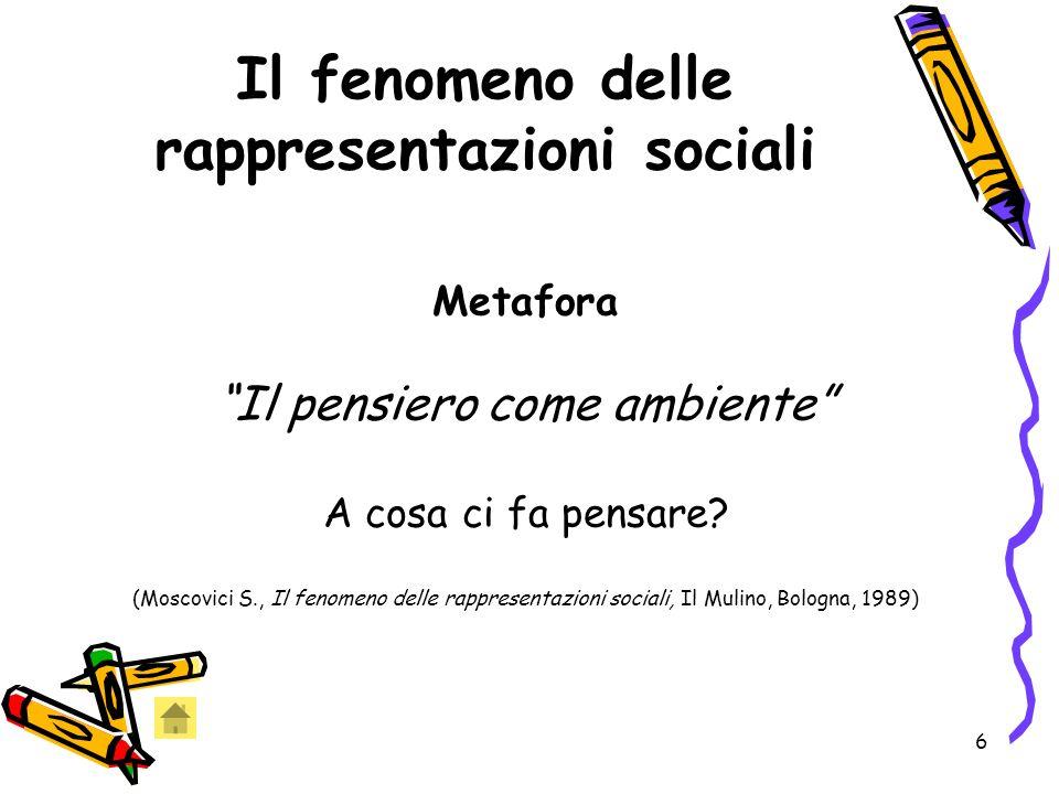 Il fenomeno delle rappresentazioni sociali