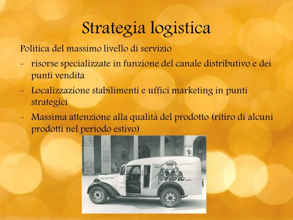 Strategia logistica Politica del massimo livello di servizio